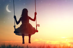 Free Child Girl On Swing Royalty Free Stock Photos - 76133798