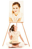 Child Girl Painter Royalty Free Stock Image