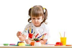 Child Girl Painting Stock Photos