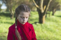 Child girl outdoors royalty free stock image