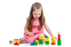 Child girl playing Royalty Free Stock Photo