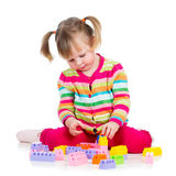 Child girl playing Stock Images