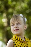 A child is a girl Royalty Free Stock Photography