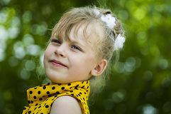 A child is a girl Royalty Free Stock Photo