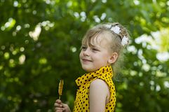 A child is a girl Royalty Free Stock Image