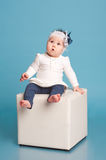 Child girl in room Royalty Free Stock Photography