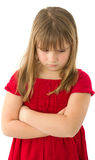 Child girl sad and offended Royalty Free Stock Photo