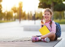 Child girl schoolgirl elementary school student royalty free stock images