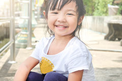 child girl smiling brightly Stock Photography