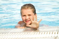 Child girl in sunny days Stock Photo