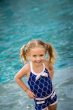 Child girl swim water Stock Images