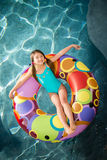 Child girl swimming Stock Photo