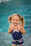 Child girl swimsuit water Stock Photos
