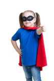 Child girl weared superhero costume Stock Photography