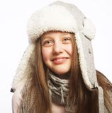 Child girl with winter clothes Stock Photos