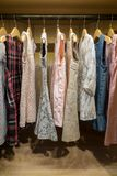 Child / girls wardrobe with dresses royalty free stock images