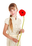Child giving flower. Stock Photography