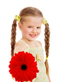 Child giving flower. Stock Photos