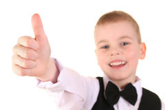 Child Giving OK Gesture Royalty Free Stock Image