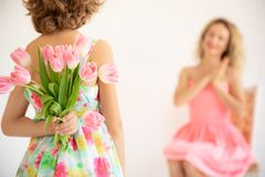 Mother`s day spring holiday concept stock image