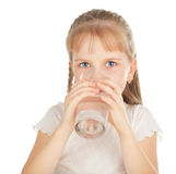 Child with a glass of pure water Royalty Free Stock Photography