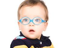 Child with glasses Royalty Free Stock Photos