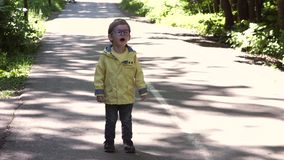 Child with glasses stock video