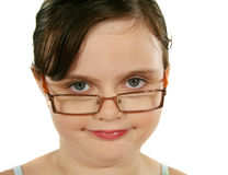 Child With Glasses Smiling royalty free stock photos