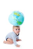 Child and globe Stock Images