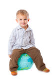 Child and globe Stock Image