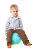 Child and globe Royalty Free Stock Image