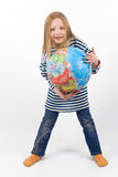 Child with globe Royalty Free Stock Image