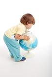 Child globe Royalty Free Stock Image