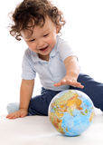 Child with globe. Stock Images