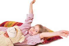 child go bedded Stock Photography