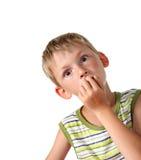 Child with goggle eyes Royalty Free Stock Image