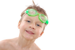Child with goggles Royalty Free Stock Photos