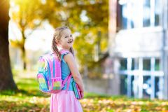 Child going back to school, year start Royalty Free Stock Photos