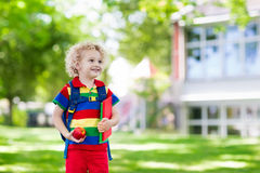 Child going back to school, year start Stock Images