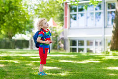 Child going back to school, year start Stock Photos
