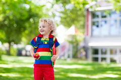 Child going back to school, year start Royalty Free Stock Images
