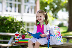 Child going back to school, year start Royalty Free Stock Image