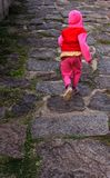 A child going runs at vellore fort Stock Photos