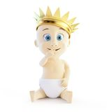 Child with a golden crown Royalty Free Stock Images