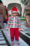 Child in Golden Temple. Amritsar. India Royalty Free Stock Photos
