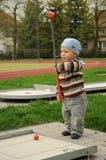 Child golfer Royalty Free Stock Photo