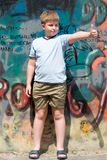 Child with graffiti Royalty Free Stock Photo