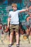 Child with graffiti Royalty Free Stock Photo