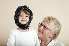 Child with grandmother Stock Photography