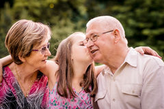 Child with grandparents Royalty Free Stock Photo
